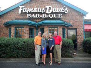 Famous Five Dining Team with Make-A-Wish of Middle TN CEO Beth Torres and Jessica Meyer, Wish Ambassador